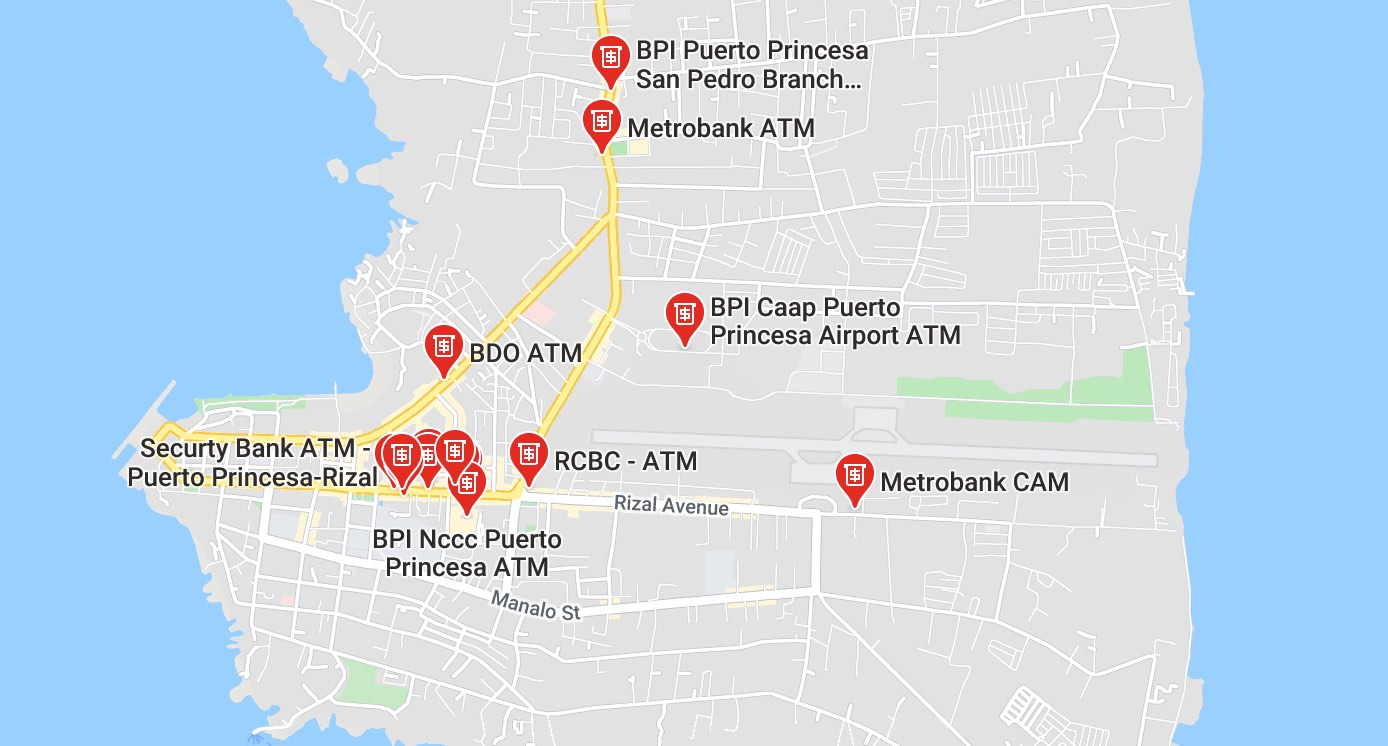 Bank locations in Puerto Princesa, Palawan | Tikigo Tips