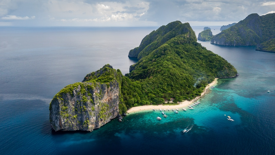 Helicopter Island - Destination of Tour C in El Nido, Palawan