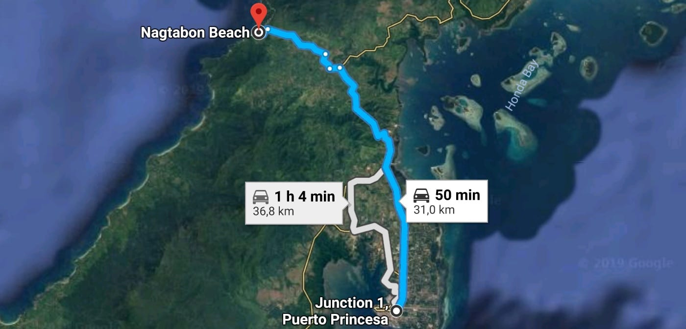 Itinerary from Puerto Princesa to Nagtabon Beach