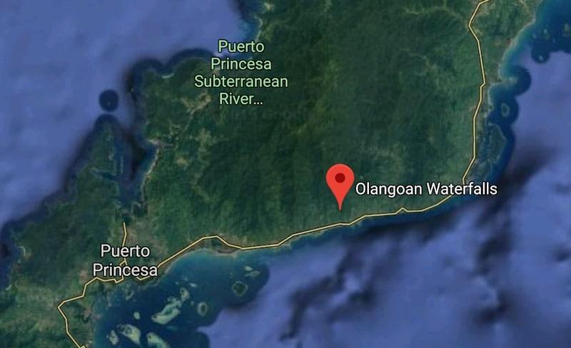 Olangoan Waterfalls in Puerto Princesa, Palawan