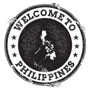 Welcome To The Philippines Stamp