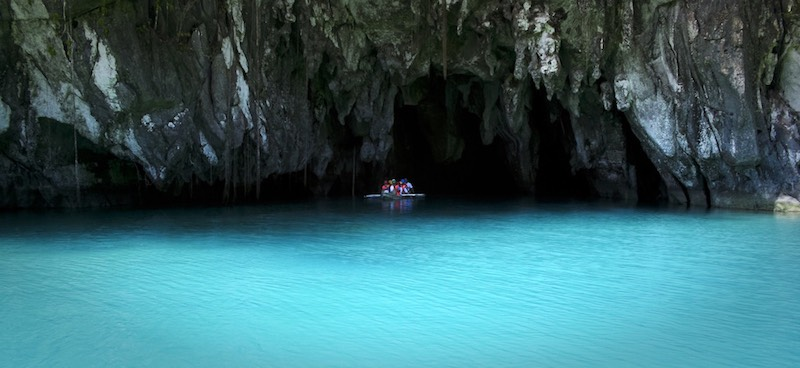 The entrance of the subterranean river in Puerto Princesa, Palawan
